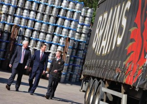 Prime minister visits Brains Brewery