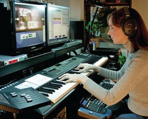 Video game production: Creating music for game-play
