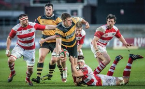 Action from the game: Newport V Llandovery. (Pic. Simon Latham).