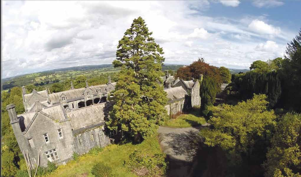 The ruined house: an aerial view by Hidden Carmarthenshire