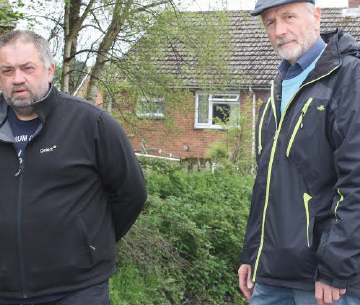 Concerns: Local landlord Mark Chappell (L) with Arthur Davies