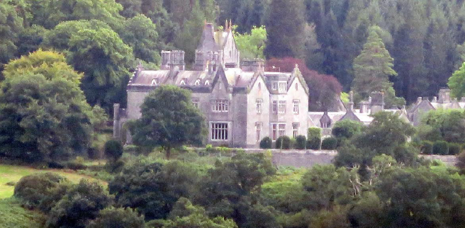 Gelli Aur mansion: Showing the restored roofs